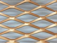 粉末喷涂铝拉网-拉网铝板-铝扩张网