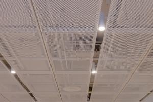 白色铝拉网吊顶-铝网价格-拉网铝板天花