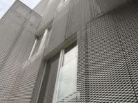 外立面幕墙铝拉网板-铝网图片-拉网铝板
