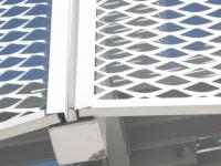 铝拉网百叶窗-铝网装饰-铝拉伸网