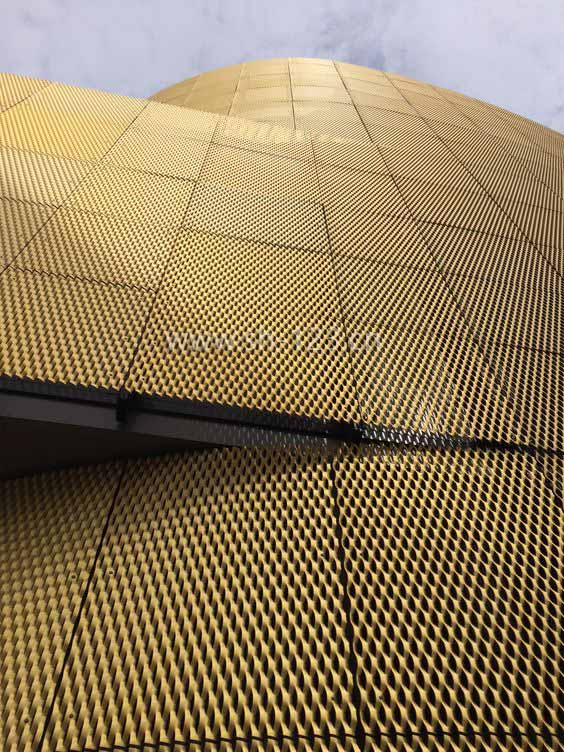 金色铝网幕墙
