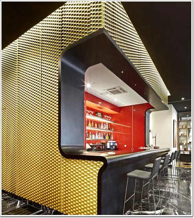 金色铝网装饰