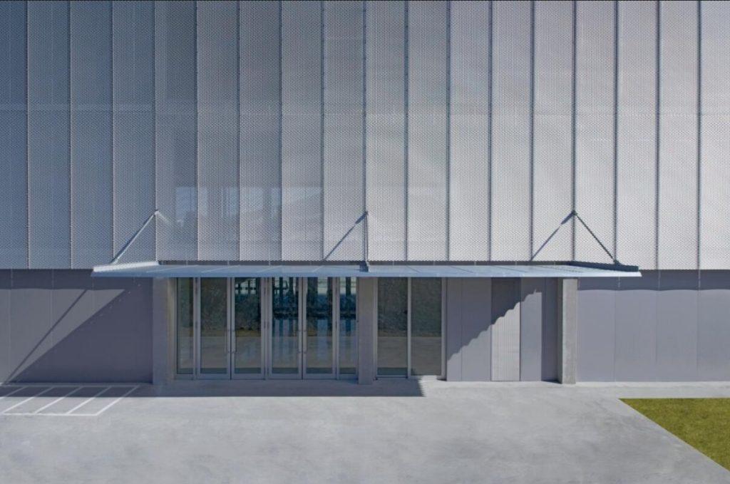 铝网拉伸网幕墙立面效果图